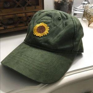 ❁ Green sunflower hat ❁